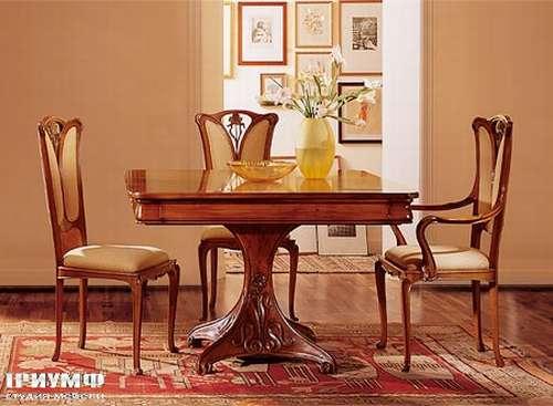 Итальянская мебель Medea - Стол квадратный на одной массивной ноге Liberti