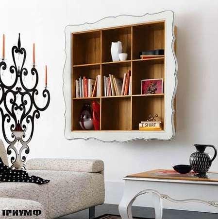 Итальянская мебель Flai - стеллаж открытый с барочной рамой