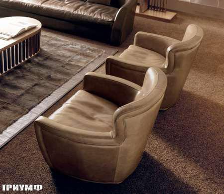 Итальянская мебель Ulivi  - кресло-кожанное-Betty