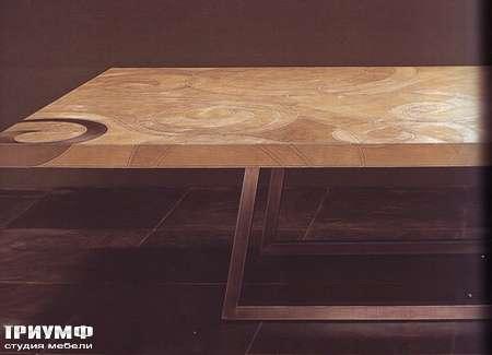 Итальянская мебель Rugiano - Стол Riscio` в коже с орнаментом
