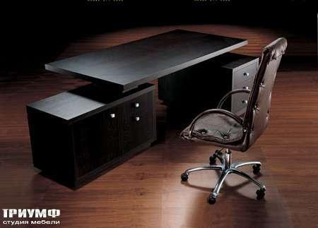 Итальянская мебель Smania - Кресло руководителя City в коже крокодила