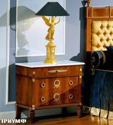 Итальянская мебель Colombo Mobili - Столик прикроватный в имперском стиле арт.326 кол.Paganini