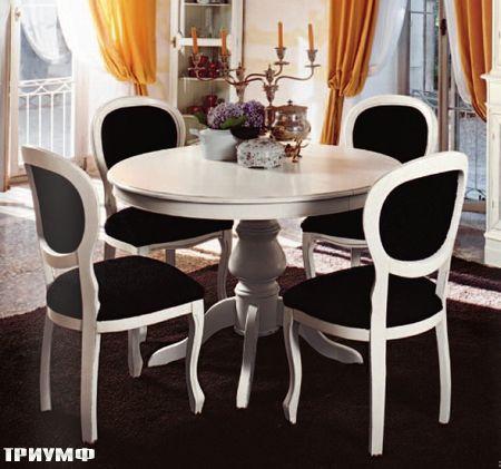 Итальянская мебель Tonin casa - стол круглый из дерева