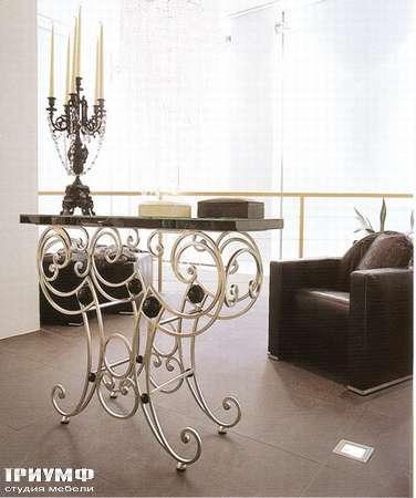 Итальянская мебель Rugiano - Стол Silvie Castex, металл, мрамор