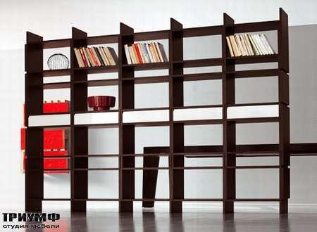 Итальянская мебель Pianca - Открытый стеллаж с ящиками для книг Unless