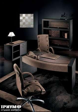 Итальянская мебель Smania - Стол под ксерокс Dat Plus, стол рабочий Chic Deluxe венге, кожа