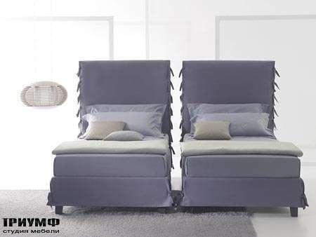 Итальянская мебель Orizzonti - кровать White односпальная с высокой спинкой