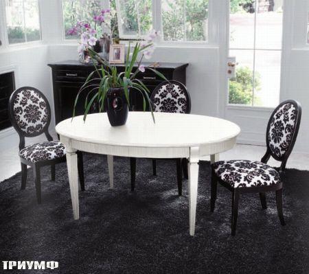 Итальянская мебель Tonin casa - стол овальный из дерева