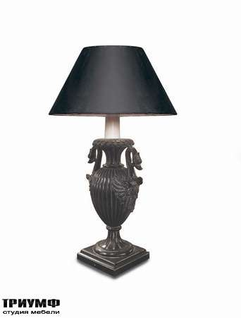Итальянская мебель Chelini - Классическая настольная лампа, массив дерева, ткань арт.585
