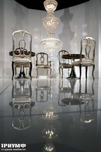 Итальянская мебель Cornelio Cappellini - Гламурные стульчики в серебре