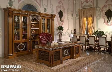 Итальянская мебель Arca - Кабинет коллекция Master – рабочий стол, кресло, библиотека