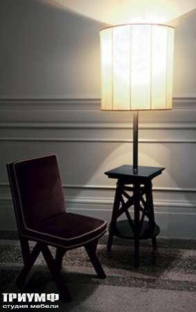 Итальянская мебель Chelini - Классический столик с торшером арт.2072/P