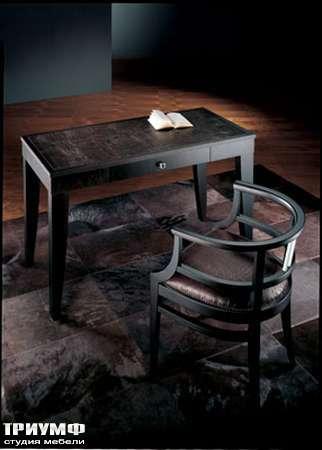 Итальянская мебель Smania - Столик письменный Marte кожа крокодила, венге
