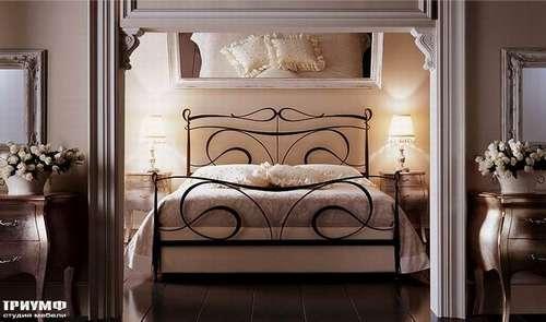 Итальянская мебель Giusti Portos - Спальня в темной ковке Portos