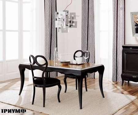 Итальянская мебель Flai - стол ар деко в крашенном дереве, черный