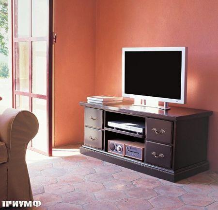 Итальянская мебель Tonin casa - тумба под тв с нишами