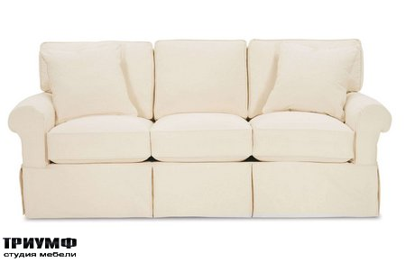Американская мебель Rowe - Nantucket 3 Seat Slipcover Queen Sleeper Sofa