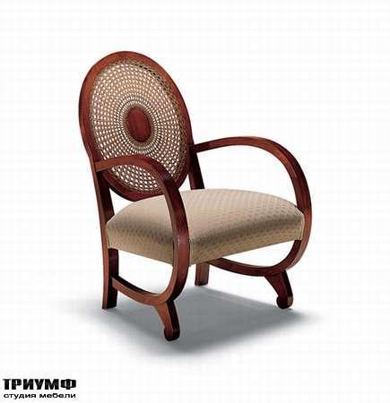 Итальянская мебель Medea - Стул с круглой спинкой и закругленными подлокотниками, арт. 580