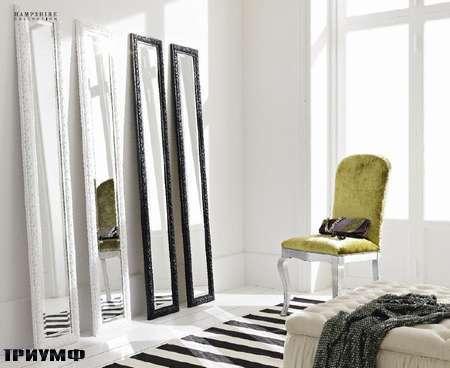 Итальянская мебель Flai - зеркало напольное, резное черное, белое, другие цвета