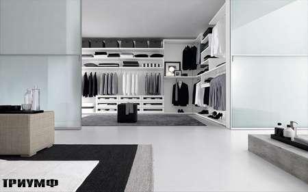 Итальянская мебель Presotto - гардеробная за раздвижными дверьми
