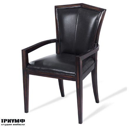 Американская мебель Scarborough House - SH26 080610 Arm Chair Black Leather