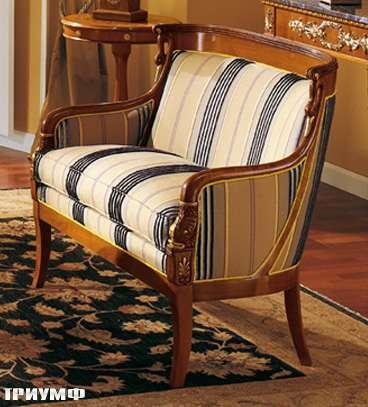 Итальянская мебель Colombo Mobili - Диван в имперском стиле арт.159.Р2 кол. Donizetti