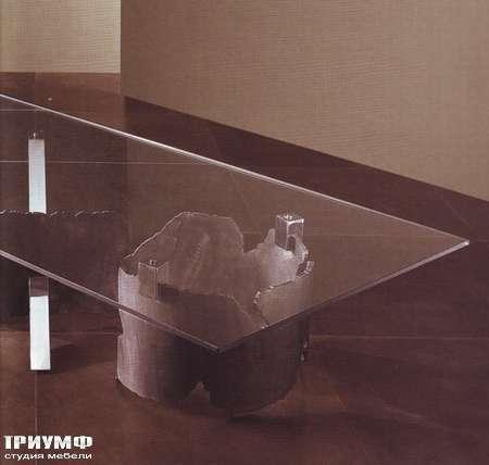 Итальянская мебель Rugiano - Стол журнальный Giorgio, металл, стекло