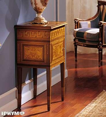 Итальянская мебель Colombo Mobili - Тумбочка в стиле Бидермайер арт.244 кол. Cimarosa