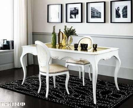 Итальянская мебель Flai - стол прямоугольный ар деко крашенный, белый