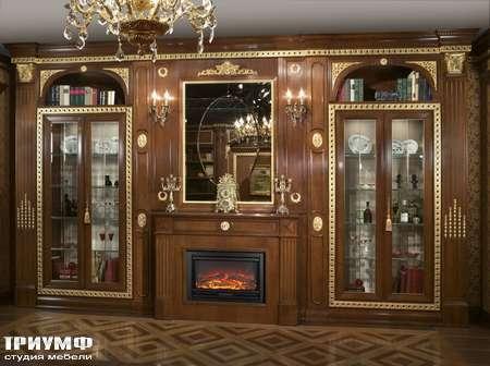 Итальянская мебель Arca - Гостинная коллекция Regimental de luxe библиотека