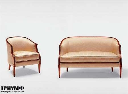 Итальянская мебель Medea - Диван с закругленной спинкой арт. 152, кресло