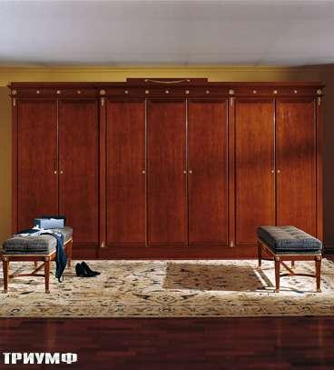 Итальянская мебель Colombo Mobili - Шкаф 6ти дверный кол. Bellini в имперском стиле арт.398.7