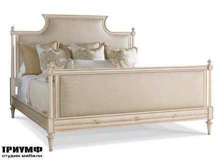 Американская мебель Hickory White - King Upholstered Panel Bed