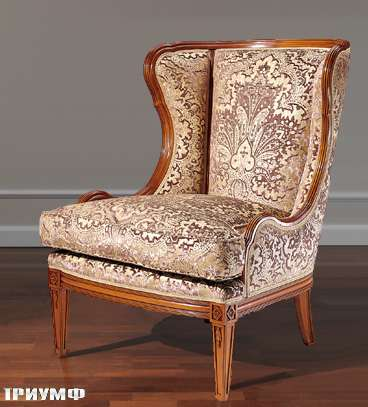 Итальянская мебель Colombo Mobili - Кресло арт.248 кол. Mascagni вишня