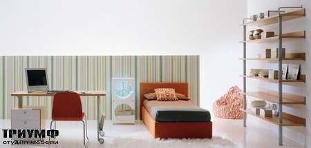 Итальянская мебель Di Liddo & Perego - Стол письменный на колесиках с тумбой