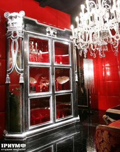 Итальянская мебель Cornelio Cappellini - Витрина черное дерево, серебро