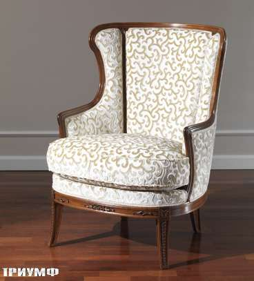 Итальянская мебель Colombo Mobili - Кресло арт.250 кол.Mascagni вишня