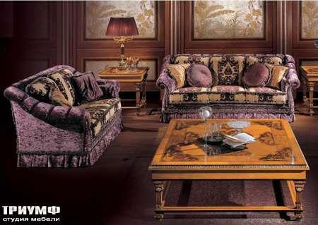 Итальянская мебель Ezio Bellotti - Стол журнальный в дереве с инкрустацией