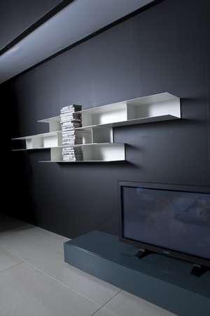 Итальянская мебель Pianca - Навесные полки, крашенный металл