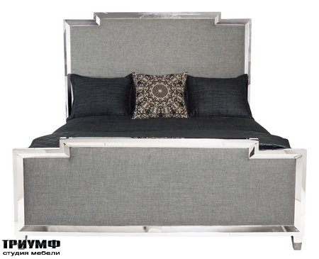 Американская мебель Bernhardt - Criteria Metal Upholstered Panel Bed