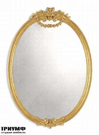 Итальянская мебель Chelini - Зеркало овальное с короной арт.1132