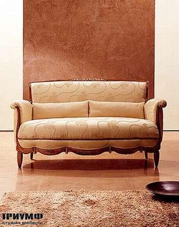 Итальянская мебель Medea - Диван старинный в дереве, арт. 587