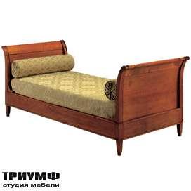 Итальянская мебель Morelato - Лежанка с деревянными боковинами