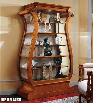 Итальянская мебель Colombo Mobili - Витрина Лира стиль Бадермайер арт.356 кол. Pergolesi
