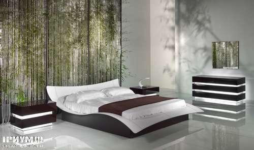 Итальянская мебель Reflex Angelo - Кровать butterfly с низкой спинкой 01 HR