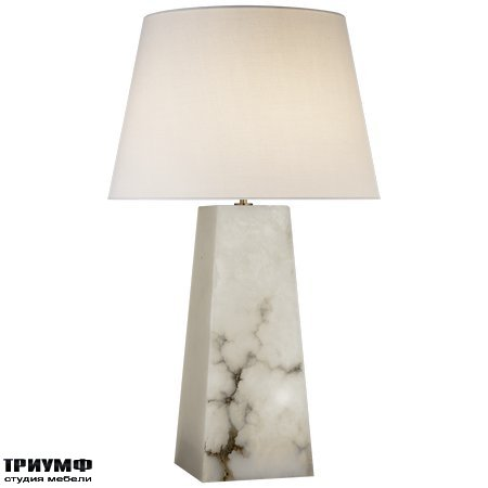 Американская мебель Visual Comfort & Co - Evoke Large Table Lamp in Alabaster with Linen Shade