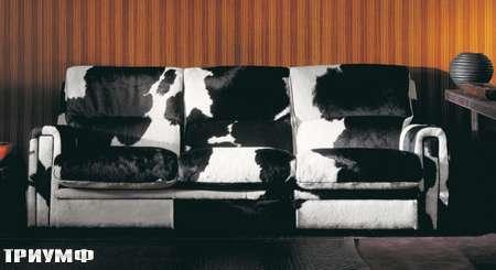 Итальянская мебель Ulivi  - диван Elen в шкуре коровы