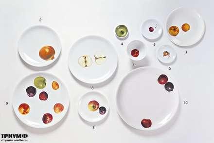 Итальянская мебель Driade - Тарелки с фруктовым рисунком