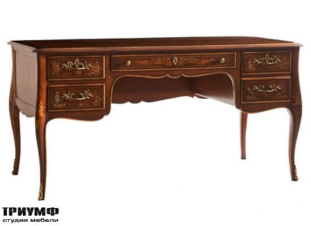 Американская мебель Kindel - Desk with Hand Painted Decoration