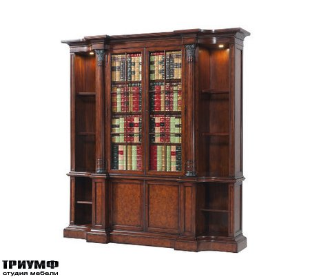 Американская мебель Theodore Alexander - A faux book and laurel burl bookcase
